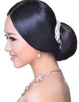 头发比较少的新娘发型设计 中式婚礼新娘发型