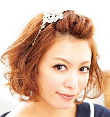 内扣梨花头发型图片 梨花头女生发型扎法图片