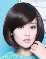 女生无刘海波波头发型 波波头发型螺丝烫