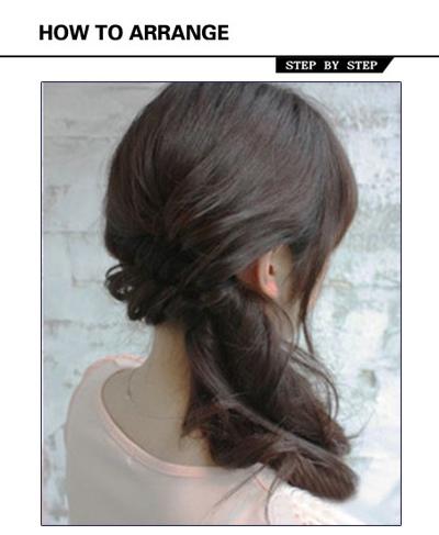 工作简单扎头发发型 夏季长发扎头发发型