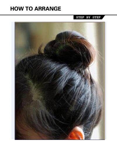 韩式包包头_包包头发型扎法教你怎么扎包包头_发型师姐图片