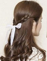 韩式发型之露额公主头 无刘海的韩式发型图解