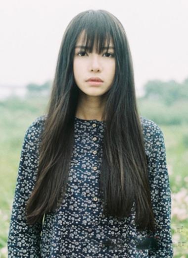 长发直发发型_中长发直发发型图片_中长发直发发型图片