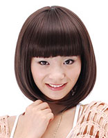 方脸黑色短发烫发发型 方脸头发厚重适合的发型