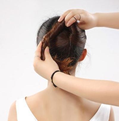 职场盘发发型步骤 盘头发型步骤图片职场女性
