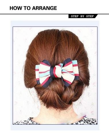 直发简单盘头发发型步骤