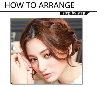 长发女生盘发图片 什么样的盘发很甜美