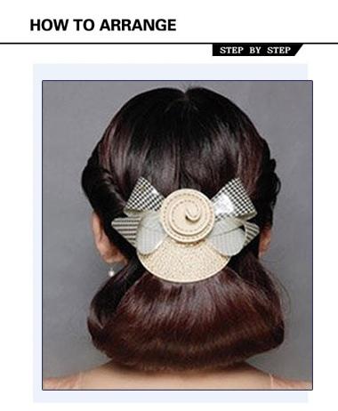 成熟女性宴会发型 优雅盘发步骤
