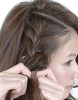 学编头发简单发型图解 女生编头发短发发型教程图片