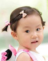 3岁女童怎么扎头发 宝宝短发怎么扎头发图片