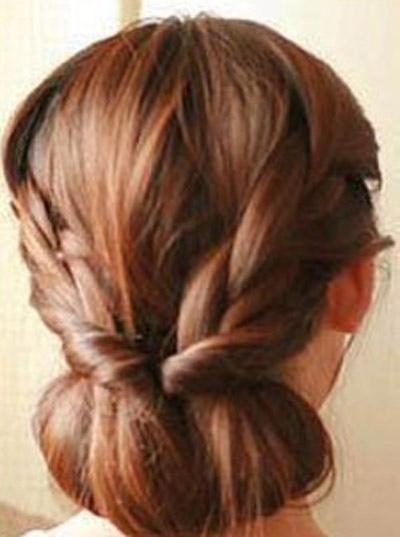 马尾发型扎法步骤图解