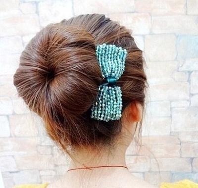 花苞头卷发器怎么用 花苞头卷发器盘发图解