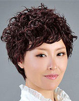 老年超短发烫发发型 中老年女性短发烫发发型