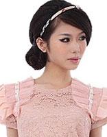 2015流行的30岁方脸女士发型 30岁方脸简单盘头发型图