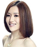适合圆脸的不对称直短发发型 圆脸中短发直发发型