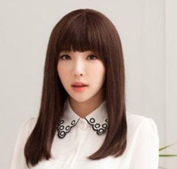 长脸合适什么样的直长发发型 大长脸女生适合的直长发发型图片