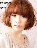 适合学生的弯曲bobo头发型 女生bobo头发型图片
