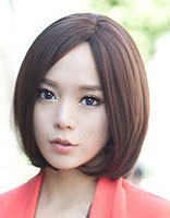 圆脸中分发型染什么颜色好看 圆脸适合染的头发颜色图片