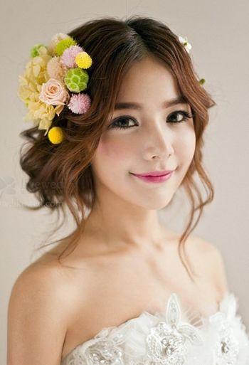 生适合什么样的新娘盘发 方脸新娘盘发发型图片[方脸]-新娘发型图片