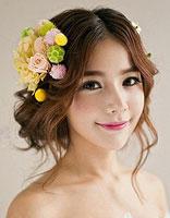 大脸盘适合什么新娘发型 脸盘大适合的新娘发型图片