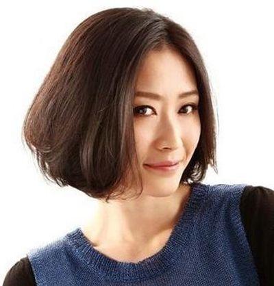 女人长脸偏瘦适合什么短发型也好打理