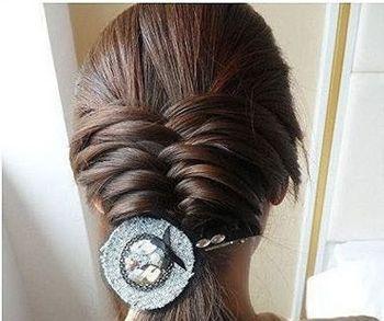 辫头发100种方法图解