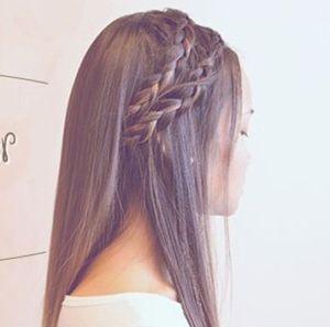 发型热点 > 校园发型 >   中学生怎么扎辫子发型好看?