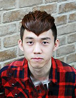 男生自然卷韩式刘海发型 男生自然卷做桃心刘海