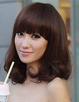 2015女款圆脸中长发发型 中长发圆脸发型图片
