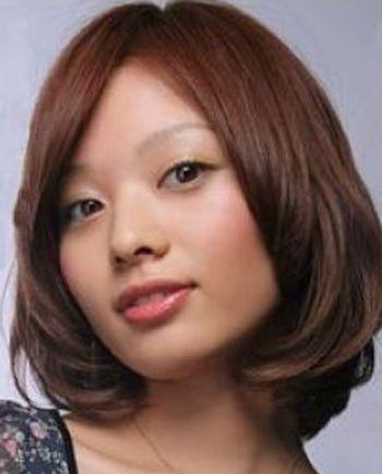 大圆脸的女孩适合什么样的中短发发型呢?
