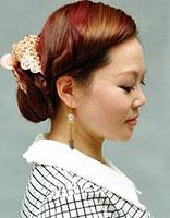怎样将长刘海盘起来 刘海韩式盘头发型图解
