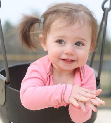 4岁女宝宝扎头发少发型图片 女孩短发扎发发型图片