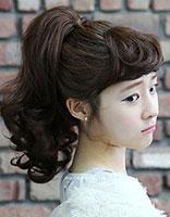 冬天无刘海卷发怎么扎好看 无刘海卷发高扎马尾辫发型