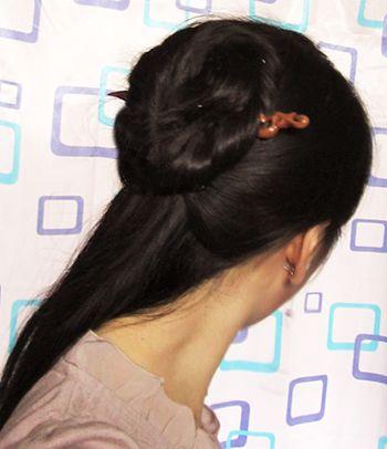 古代少女如何用发簪盘发 古代少女发簪盘发图解图片
