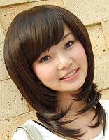 圆脸妹子适合斜刘海的发型 圆脸斜刘海发型图片
