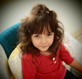 几岁的女孩可以烫头发 三岁女宝宝烫头发发型图片