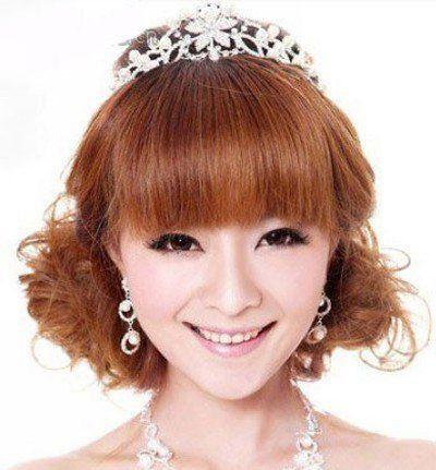 生适合什么样的盘发 脸型长结婚盘发图片[新娘发型]-新娘发型图片图片