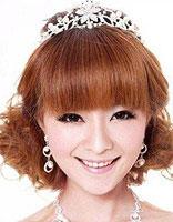 圆形脸盘什么样的韩式新娘发型 圆脸新娘盘头发型图片