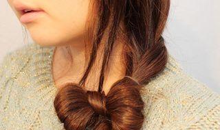 头发怎么编马尾蝴蝶结 马尾编辫子的方法图解