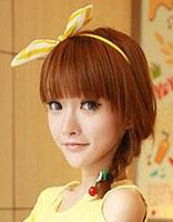 齐刘海的女生长直发发型怎么弄好看 直长发齐刘海发型