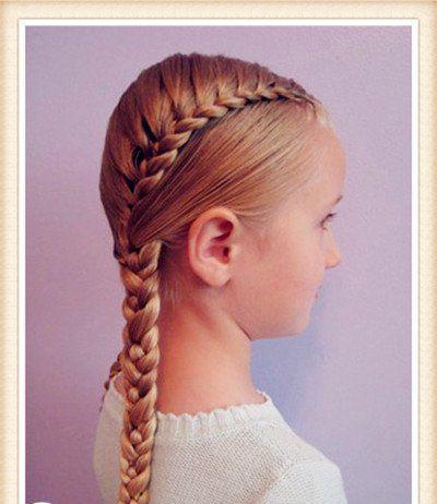 小孩女生编什么发型 韩式女孩发型编法图片