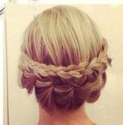 中短发梨花怎么扎头发 中短梨花烫发型扎法图解[梨花头]-漂亮发型 简
