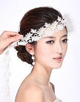 新娘头如何盘不显脸大 适合脸大新娘盘发图片