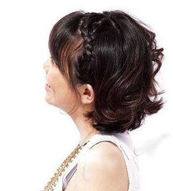 辫子_辫子发型_辫子的编法图解_韩式瘦脸辫子盘发图片