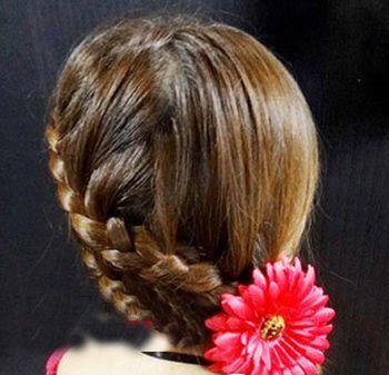 小孩子扎头发最美的发型 流行美小孩发型扎法图片[儿童发型]-儿童发型