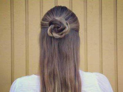 自己扎可爱简单发型 长发简单发型扎法图解图片