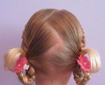 四岁女孩短发发型扎法 短发小孩扎发发型图片