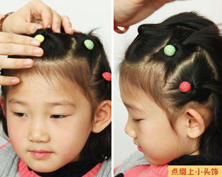 小女童短发发型扎法 三岁女童短发发型扎法