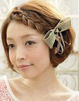 短头发在侧面编个小辫怎么编 编头发的步骤及图片