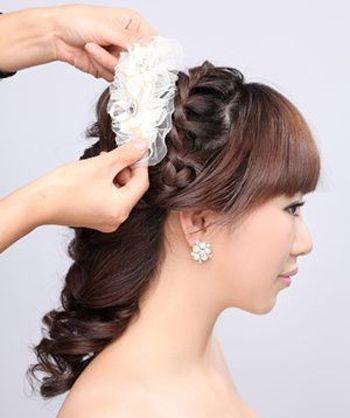 最合适什么样的新娘盘发 大脸新娘盘发发型图片[新娘发型]-新娘发型图片